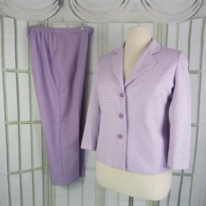 Alfred Dunner Pant Suit 14P Blazer 16P Pants